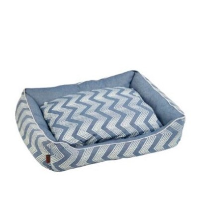 Beeztees REST BED ZIGZAG BLUE 55X50X20 - haf-haf.am